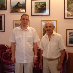 С Александром Свияшом (Москва, июль 2011 года)