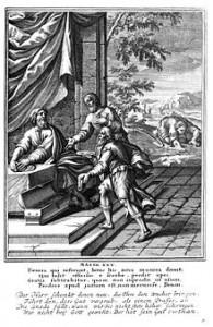 Притча о талантах (гравюра, 1712 год)